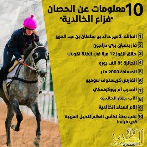 10 معلومات عن الحصان فزاع الخالددية